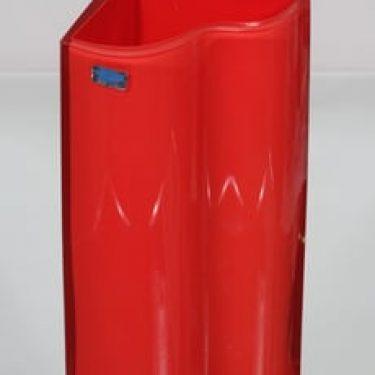 Nuutajärvi Sonetti maljakko, punainen, suunnittelija Kerttu Nurminen,
