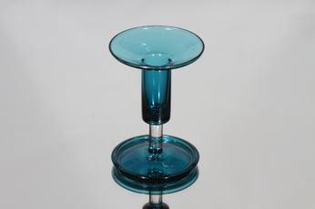 Riihimäen lasi Harlekiini kynttilänjalka, signeerattu, suunnittelija Nanny Still, signeerattu, pieni