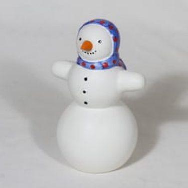 Arabia figuuri, lumiukko, suunnittelija Inkeri Leivo, lumiukko, käsinmaalattu, signeerattu