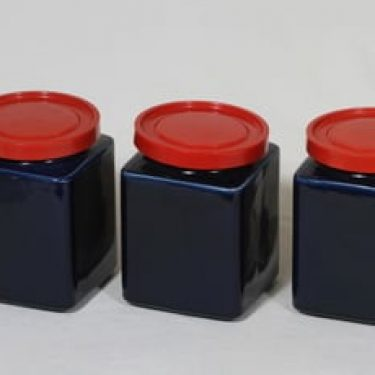 Arabia FF tölkit, sininen lasite, 3 kpl, suunnittelija ,