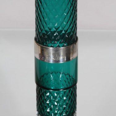 Riihimäki glass 1492 vase, turquoise, Tamara Aladin