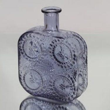 Riihimäen lasi 1724 koristepullo, neodymi, suunnittelija Nanny Still,