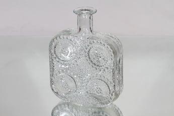 Riihimäen lasi 1724 koristepullo, kirkas, suunnittelija Nanny Still,