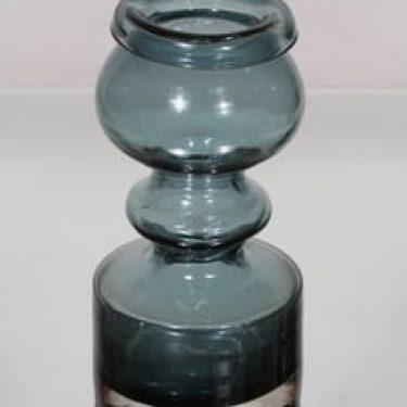 Riihimäen lasi Pompadour maljakko, siniharmaa, suunnittelija Nanny Still,