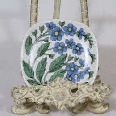 Arabia Botanica koristelautanen, Luhtalemmikki, suunnittelija Esteri Tomula, Luhtalemmikki, pieni, serikuva