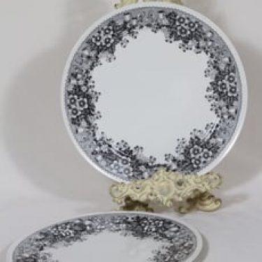 Arabia Talvikki lautaset, matala, 2 kpl, suunnittelija Raija Uosikkinen, matala, serikuva