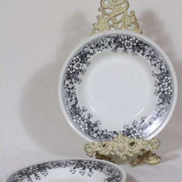 Arabia Talvikki lautaset, syvä, 3 kpl, suunnittelija Raija Uosikkinen, syvä, serikuva