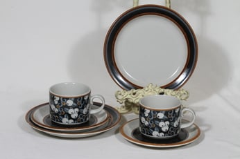 Arabia Taika tea cup, saucer and plate, 2 pcs, Inkeri Seppälä