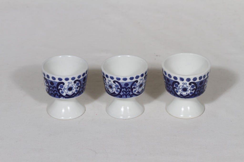 Arabia Ali munakupit, sininen, 3 kpl, suunnittelija Raija Uosikkinen, kuparipainokoriste