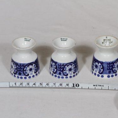 Arabia Ali munakupit, sininen, 3 kpl, suunnittelija Raija Uosikkinen, kuparipainokoriste kuva 2