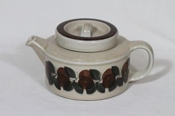 Arabia Ruija teekaadin, 1.35 l, suunnittelija Raija Uosikkinen, 1.35 l, käsinmaalattu, retro