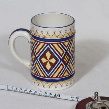 Arabia Fennia muki, käsinmaalattu, suunnittelija , käsinmaalattu, painettu, kansallisromantiikka kuva 2