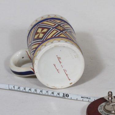 Arabia Fennia muki, käsinmaalattu, suunnittelija , käsinmaalattu, painettu, kansallisromantiikka kuva 3