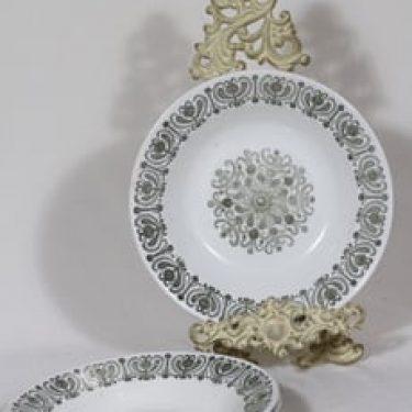 Arabia Sampo lautaset, syvä, 3 kpl, suunnittelija Raija Uosikkinen, syvä, serikuva