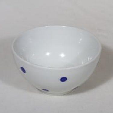 Arabia Ping Pong kulho, sininen, suunnittelija Raija Uosikkinen, pieni, serikuva