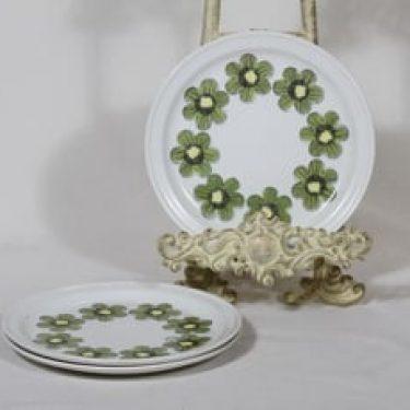 Arabia Primavera lautaset, 3 kpl, suunnittelija Esteri Tomula, pieni, serikuva, retro