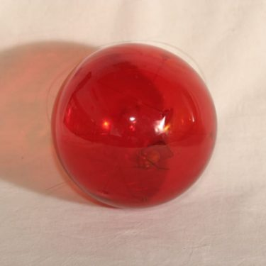Iittala Aurinkopallo taidelasi, punainen, suunnittelija Timo Sarpaneva,