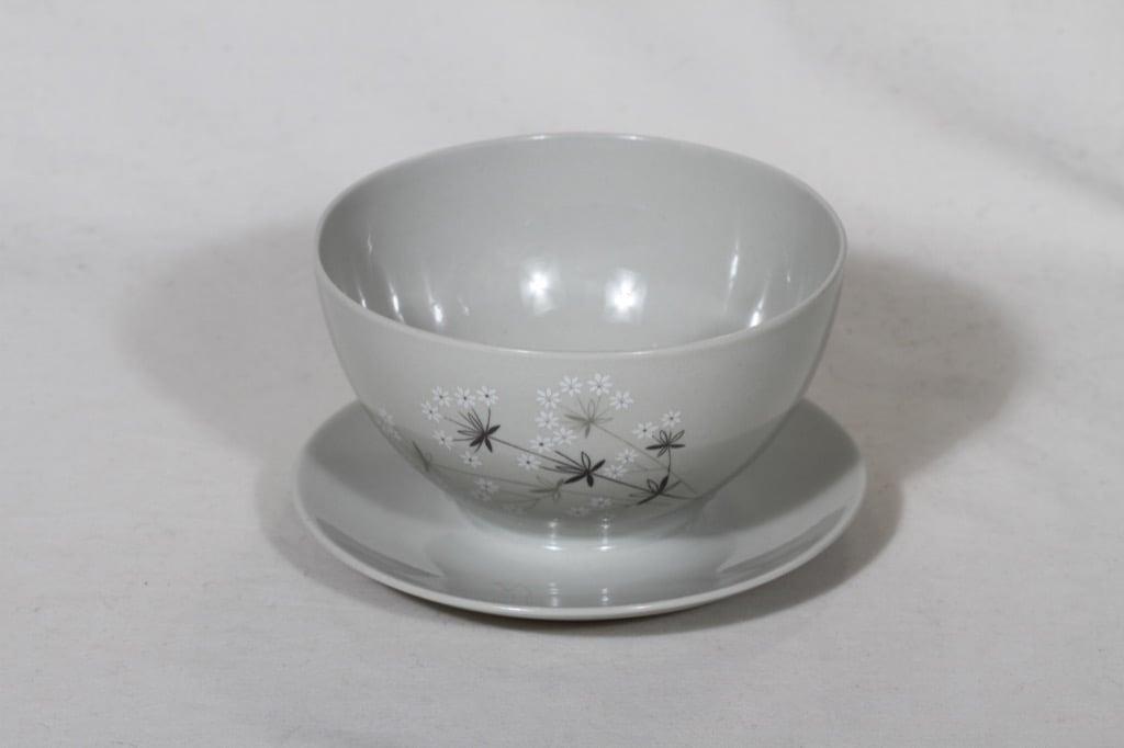 Arabia Lumikukka sauce bowl, designer Raija Uosikkinen, different sizes, silk screening, flower theme