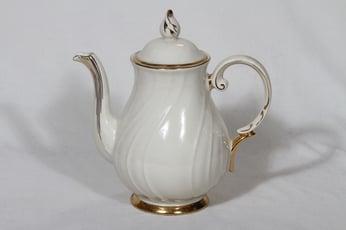 Arabia Kultakoriste kahvikaadin, 1 l, suunnittelija Olga Osol, 1 l, kullattu