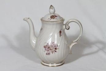 Arabia Raili kahvikaadin 1 l, suunnittelija Svea Granlund, siirtokuva, kukka-aihe