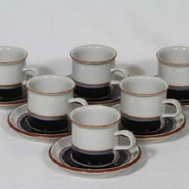 Arabia Taika kahvikupit, 1.9 l, 6 kpl, suunnittelija , 1.9 l, raitakoriste
