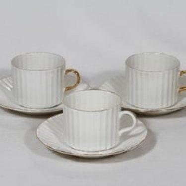Arabia Kultakorva kahvikupit, Kultapiisku, 3 kpl, suunnittelija , Kultapiisku, kultakoriste