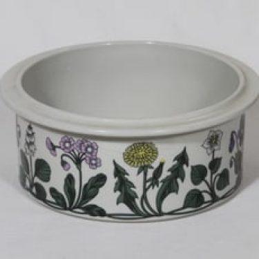 Arabia Flora vuoka, suunnittelija Esteri Tomula, serikuva, kukka-aihe