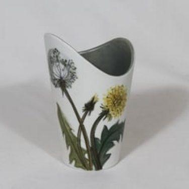 Arabia Kukka maljakko, käsinmaalattu, suunnittelija Hilkka-Liisa Ahola, käsinmaalattu, kukka-aihe