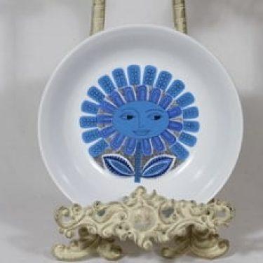 Arabia Daisy lasten lautanen, syvä, suunnittelija Esteri Tomula, syvä, serikuva, kukka-aihe
