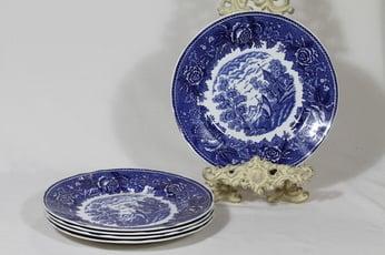 Arabia Maisema lautaset, matala, 5 kpl, suunnittelija , matala, kuparipainokoriste