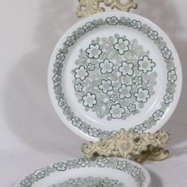 Arabia AR lautaset, matala, 3 kpl, suunnittelija , matala, kuparipainokoriste, kukkakuvio