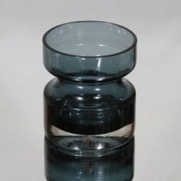 Riihimäen lasi 1377 maljakko, siniharmaa, suunnittelija Tamara Aladin,