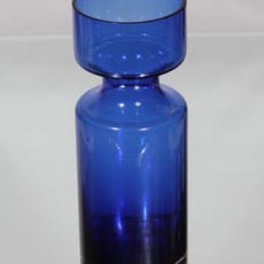 Riihimäen lasi 1377 maljakko, sininen, suunnittelija Tamara Aladin,