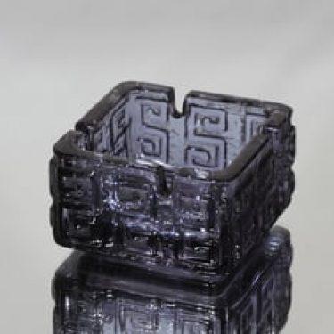 Riihimäen lasi Taalari tuhka-astia, neodymi, suunnittelija Tamara Aladin, massiivinen