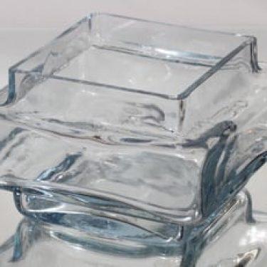 Riihimäen lasi Palkki maljakko, kirkas, suunnittelija Helena Tynell, suuri