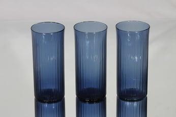 Iittala Mehulasi lasit, sininen, 3 kpl, suunnittelija Tapio Wirkkala,