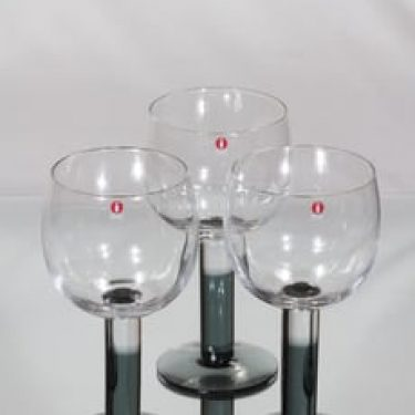 Nuutajärvi Mondo viinilasit, 50 cl, 3 kpl, suunnittelija Kerttu Nurminen, 50 cl, suuri