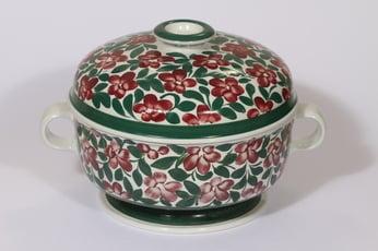 Arabia Purpurijenkka liemimalja, 2.85 l, suunnittelija Ulla Procope, 2.85 l, suuri, käsinmaalattu, signeerattu