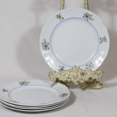 Arabia AS plates, flower decoration, 5 pcs, small, silk screening, flower theme