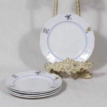 Arabia kukkakuvio lautaset, 5 kpl, suunnittelija , pieni, serikuva, kukka-aihe