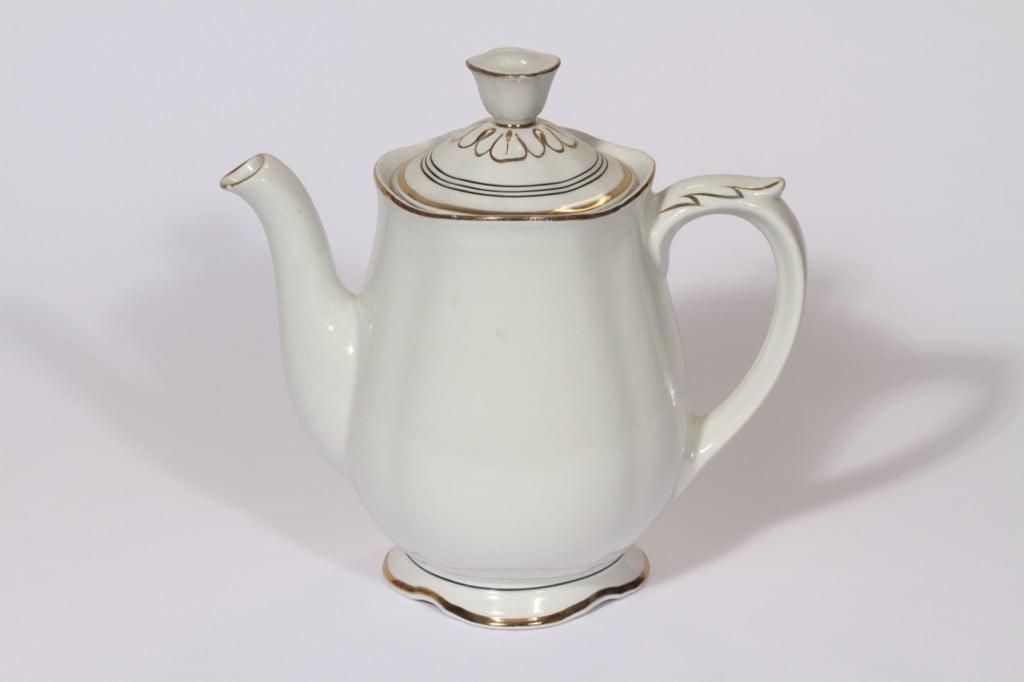 Arabia Hermes kahvikaadin, 1 l, suunnittelija , 1 l, raitakoriste