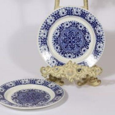 Arabia Ali lautaset, sininen, 2 kpl, suunnittelija Raija Uosikkinen, pieni, kuparipainokoriste