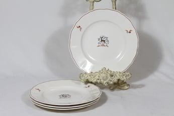 Arabia Kauris lautaset, matala, 4 kpl, suunnittelija Tyra Lungren, matala, siirtokuva