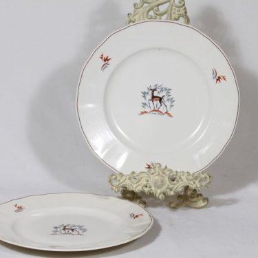 Arabia Kauris lautaset, matala, 2 kpl, suunnittelija Tyra Lungren, matala, siirtokuva
