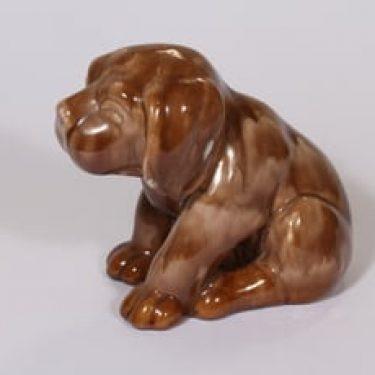 Kupittaan savi 360 eläinfiguuri, koira, suunnittelija Valentina Modig, koira, suuri, valulasite