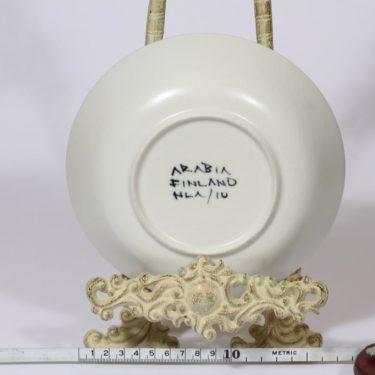 Arabia Aurinkoruusu lautanen, syvä, suunnittelija Hilkka-Liisa Ahola, syvä, käsinmaalattu, signeerattu kuva 2