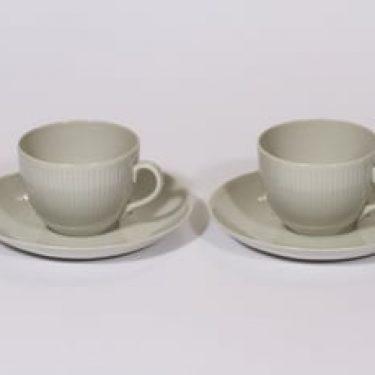 Arabia Sointu kahvikupit, luunvalkoinen, 2 kpl, suunnittelija Kaj Franck,