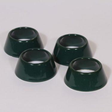 Arabia Kilta munarenkaat, vihreä, 4 kpl, suunnittelija Kaj Franck,