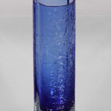 Riihimäen lasi 1456 maljakko, sininen, suunnittelija Tamara Aladin,