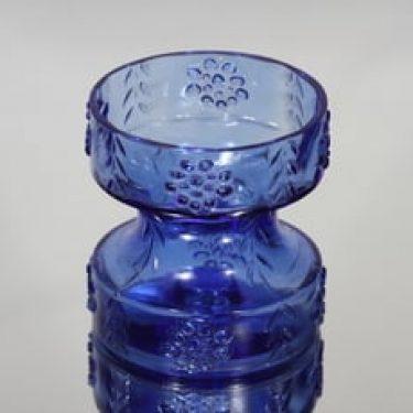Riihimäen lasi Mesimarja kääntömaljakko, sininen, suunnittelija Tamara Aladin, pieni